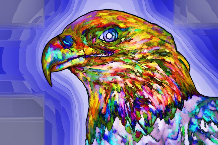 Bald Eagle Face - Lanjee