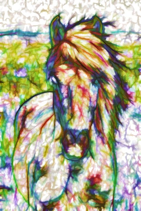 A beautiful brown horse - Lanjee