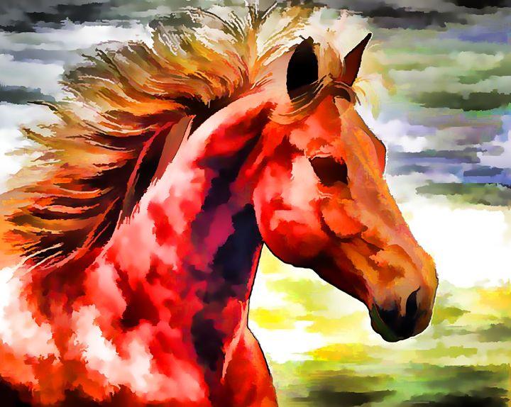 Portrait of Paint Horse - Lanjee