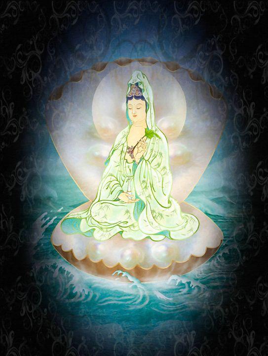 Clam-sitting Kuan Yin - Lanjee