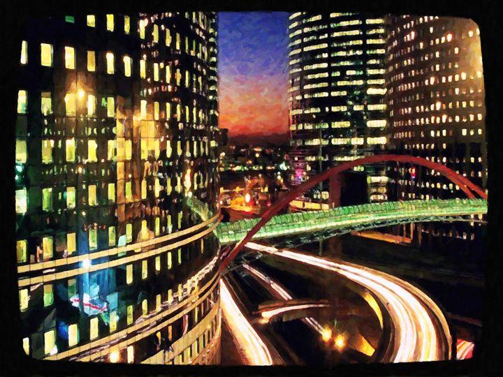 La defense by night - Paris - Lanjee