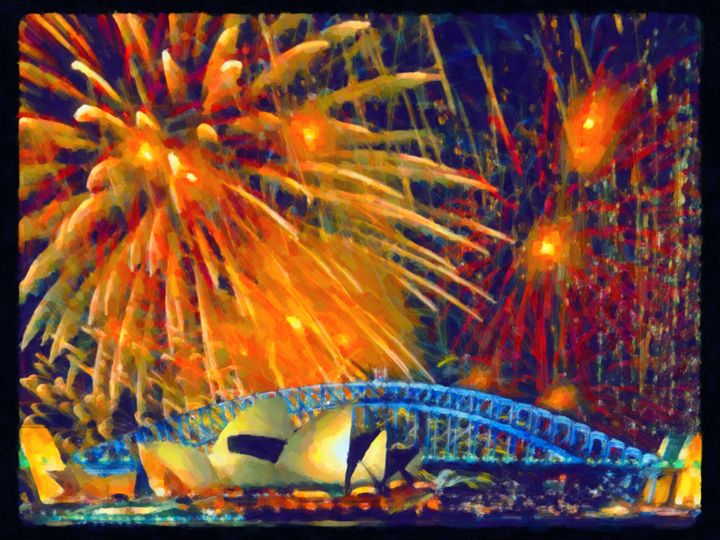 Sydney new year fireworks - Lanjee