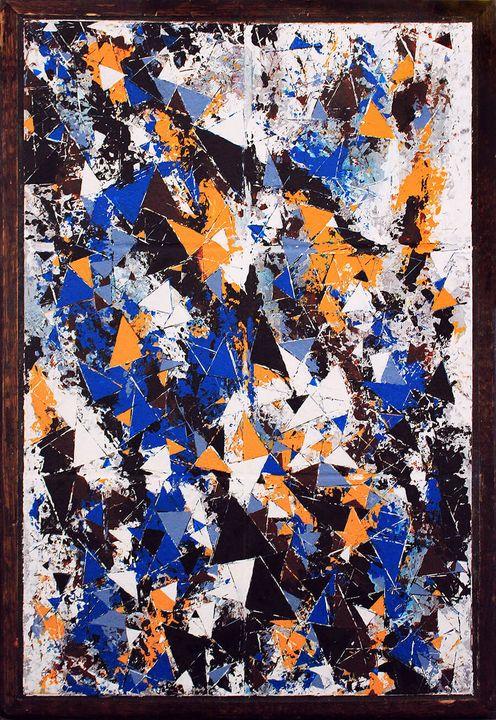 'Untitled' (Fracture Composition 4) - Greg Bryce Fine Artist