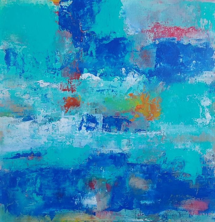 """Blue Streak"" - Rose Cofield Art"