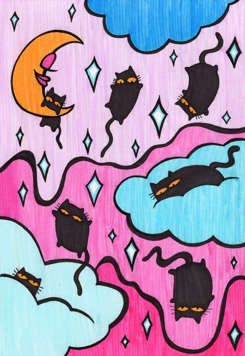 Raining Cats - ART BY UNICORNFACE