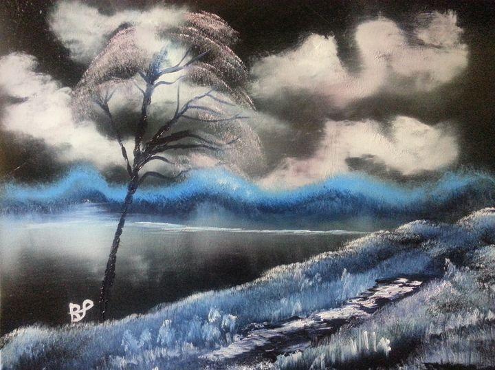 Winter night - landscape arts