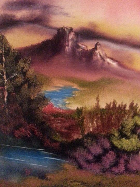 sunset mountain - landscape arts