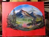 18x24, oil landscape painting, creat