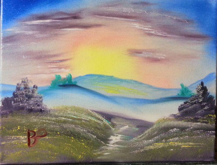 sunlit valley - landscape arts