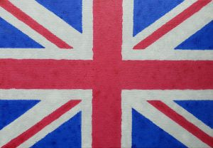 Distressed Union Jack In Oil - Mark Steen