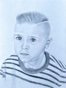 Little Boy Pencil Art - Roger Mendonca
