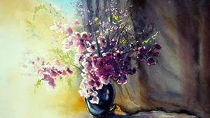 lavender vase painting