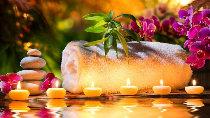 Spa decoration with candle - Ariana2u