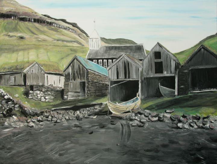 Bøur village - Vágar - Faroe Islands - basart