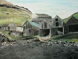 Landscape island Vagar-Faroe Islands