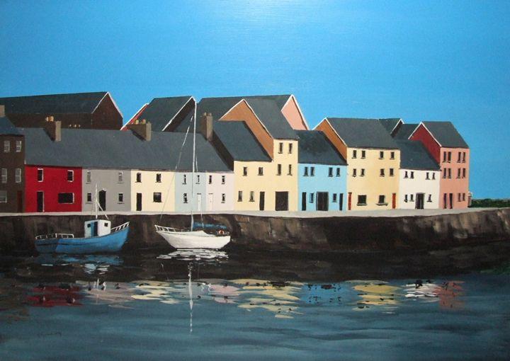 The Long Walk, Galway - Blue Sky Art