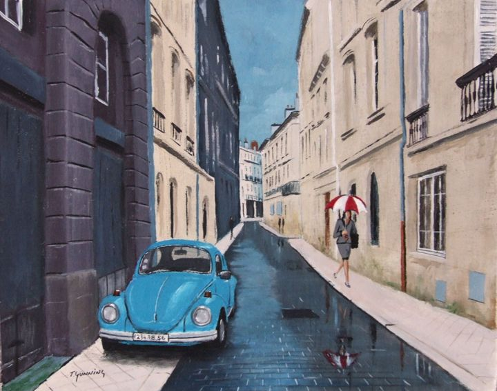Rainy Day, Bordeaux - Blue Sky Art