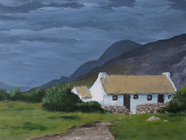 Kerry Cottage - Blue Sky Art