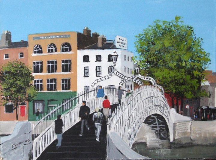 The Ha'penny Bridge, Dublin - Blue Sky Art