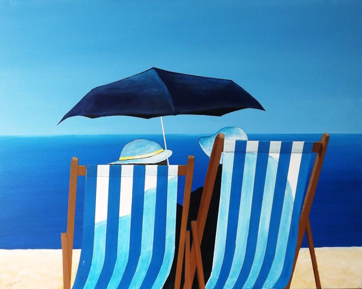 Deck Chairs - Blue Sky Art