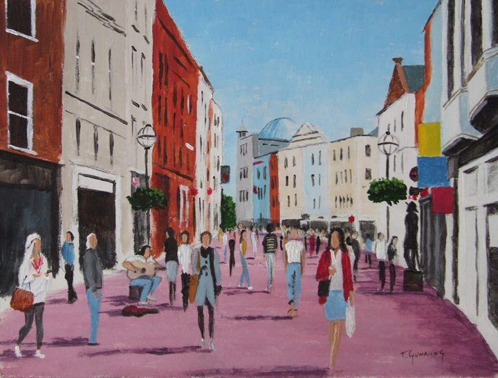 Grafton Street, Dublin - Blue Sky Art