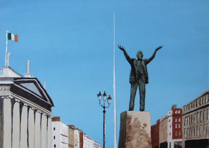 O'Connell Street, Dublin - Blue Sky Art