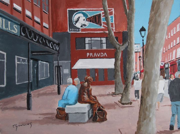 Liffey Street, Dublin - Blue Sky Art