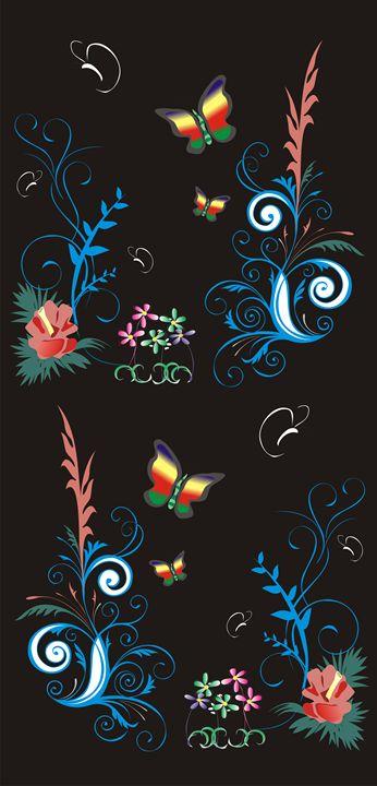Modern Batik of Flower and Papilon - Pontjo Hadijanto