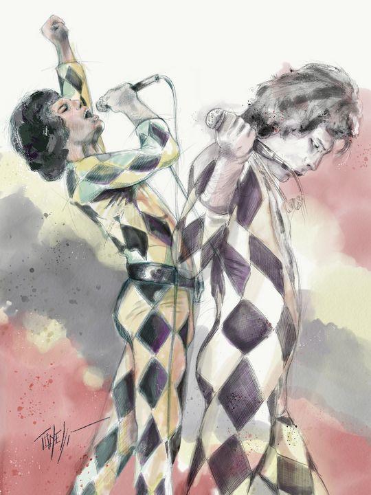 Freddie Mercury God save the queen - Tonelli Design