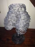 Barbed wire sculpture