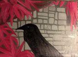 A3 oil on canvas crow