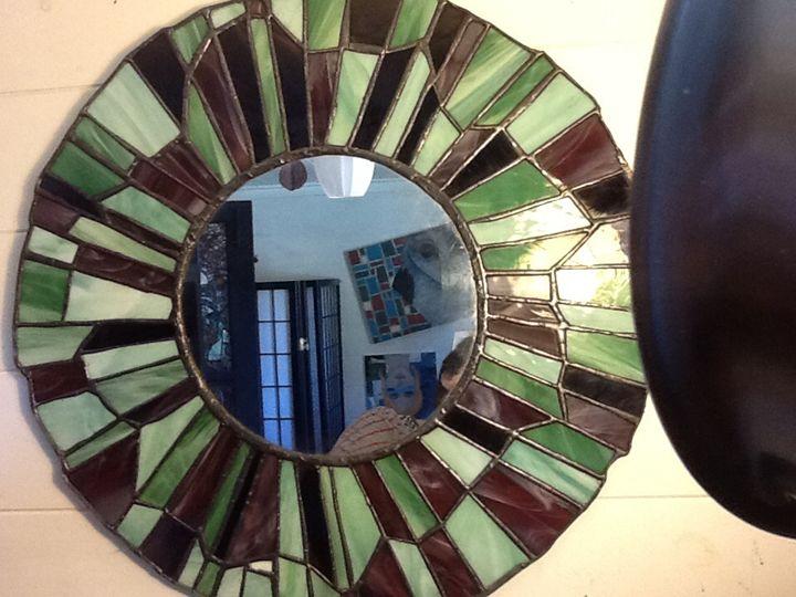 Large glass mirror - Hexsix Designs: unique art creations