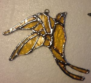 Glass bird suncatcher