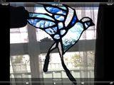 Small glass bird suncatcher