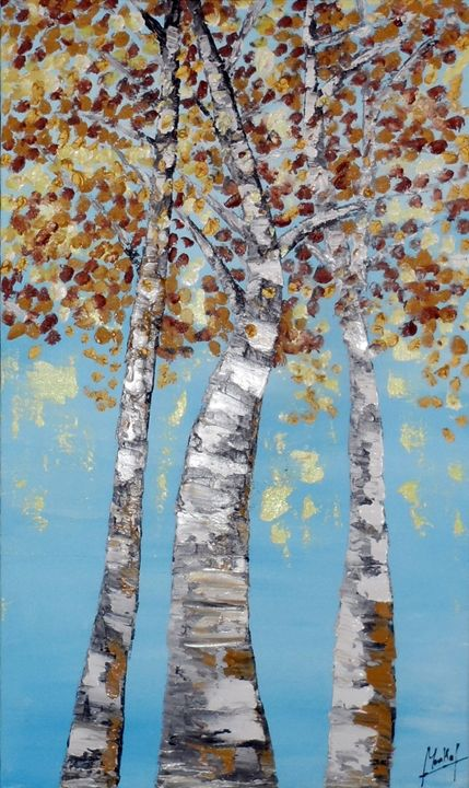 Bouleaux en automne - Jacky Monka
