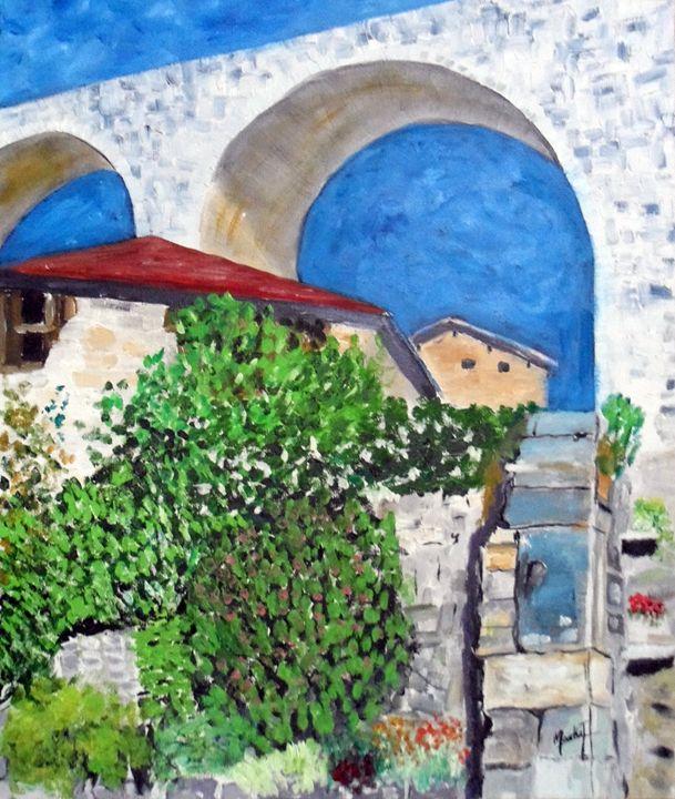 Pont et ciel bleu - Jacky Monka