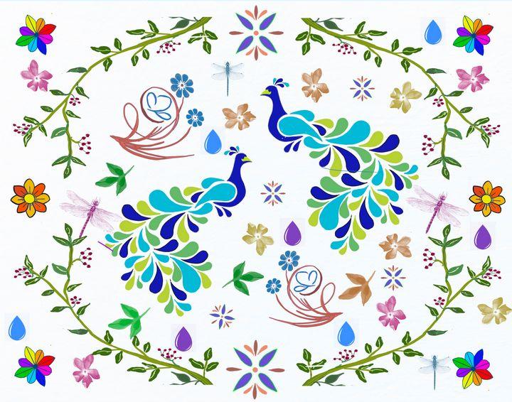 Peacocks in Heaven - Yvonne Remington