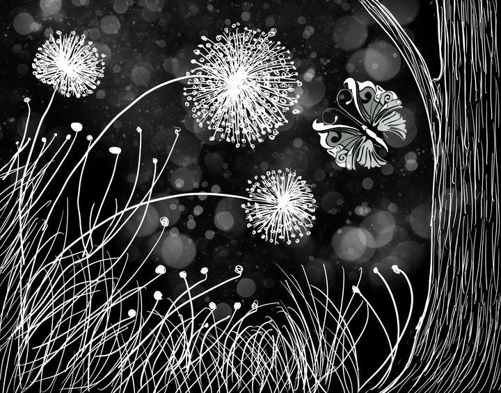 Garden in NEGATIVE - Yvonne Remington