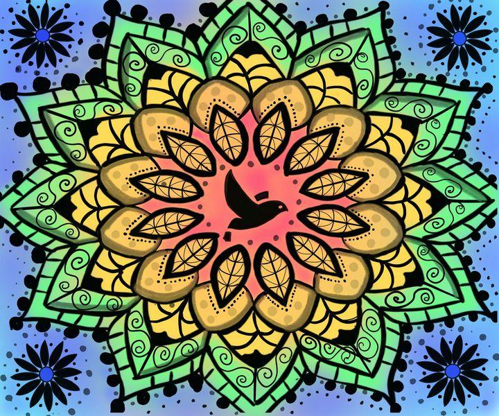 Bird on a Flower - Yvonne Remington