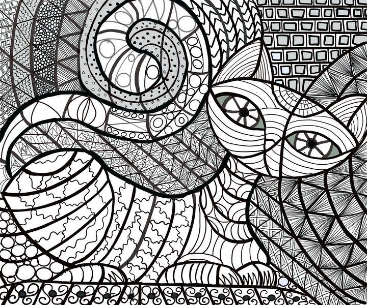 Doodle Cat - Yvonne Remington