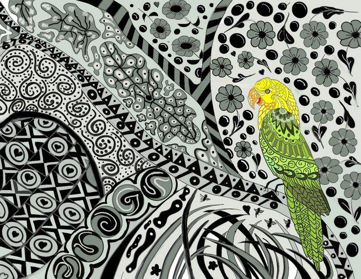 Bird in Wilderness - Yvonne Remington