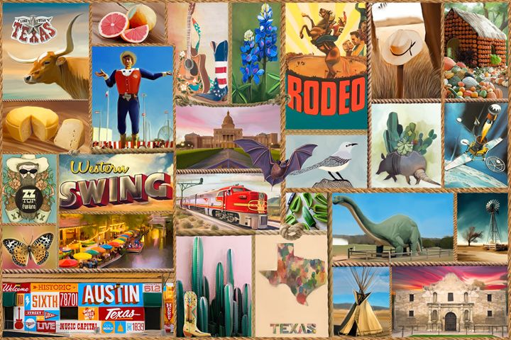 Symbols Of Texas Live Art Gifts Digital Art Places Travel