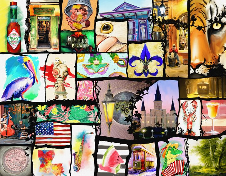 Louisiana Culture & All about LA - Live Art Gifts - Digital