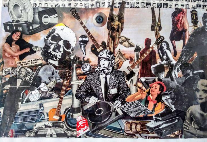 Devolution - Brainless punk flyers collages