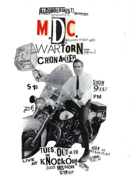 MDC the knockout show San Fransisco - Brainless punk flyers collages