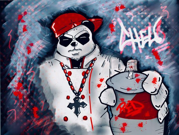 Panda art - Art n Eats