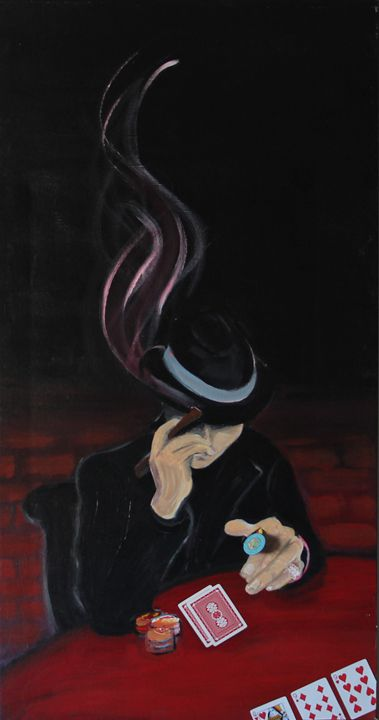 The poker player - Lola Bouli Artwork