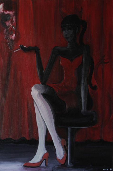 The lady in red - Lola Bouli Artwork
