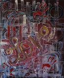 24x3 Acrylic on canvas
