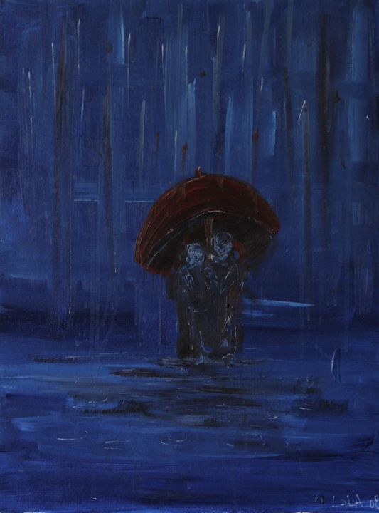 Underneath the umbrella - Lola Bouli Artwork